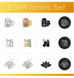 Apiculture icons set vector