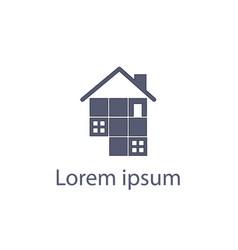Architec puzzle house logo vector