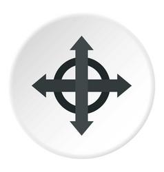 arrows target icon circle vector image