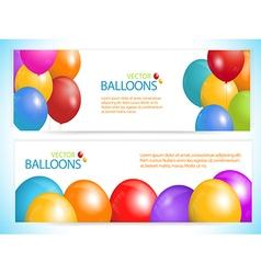 Balloon banners vector