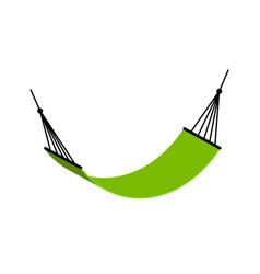 beach hammock icon hammock isolated travel vector image