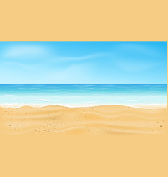 beautiful sea view tropical beach vector image