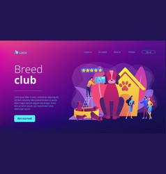 breed club concept landing page vector image