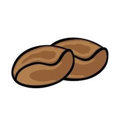 Brown coffee beans vector