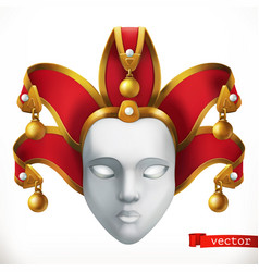 carnival mask 3d icon vector image