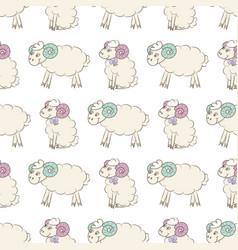 Cartoon sheep seamless wallpaper vector