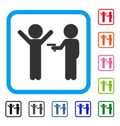 children crime framed icon vector image