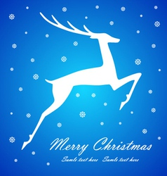 Christmas deer on blue background vector image
