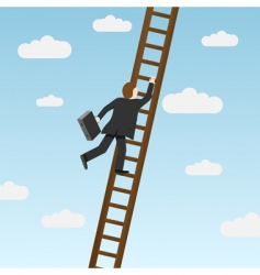 climbing ladder vector image