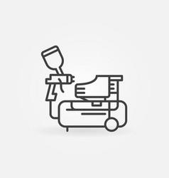 compressor and spray gun concept line icon vector image