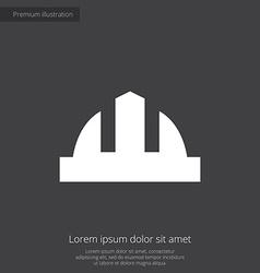 construction helmet premium icon white on dark bac vector image