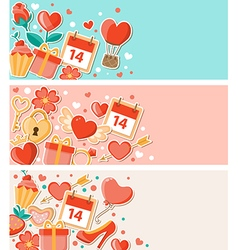 Decorative banners for Valentines day vector