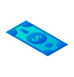 dollar money icon isometric style vector image