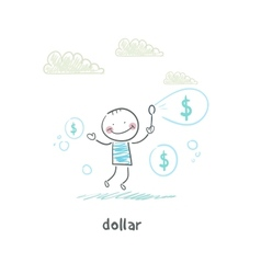 Dollars - bubbles vector image