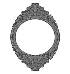 engraved floral frame vector image