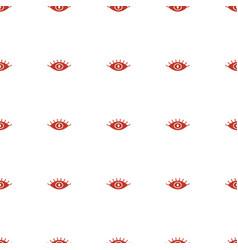Eye icon pattern seamless white background vector