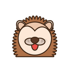 Face porcupine cartoon animal vector