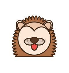 face porcupine cartoon animal vector image