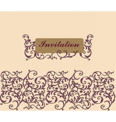 Floral Invitation card Classic royal style vector image