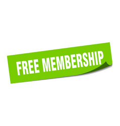 Free membership sticker free membership square vector