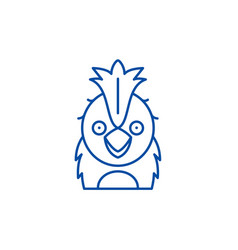funny parrot line icon concept funny parrot flat vector image