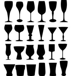 glasses silhouettes collection vector image