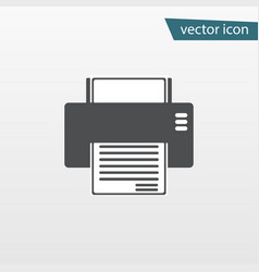 Gray print icon isolated on background modern fla vector