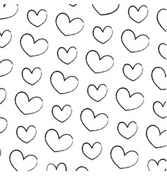 grunge nice heart love symbol background vector image