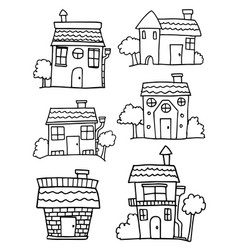 Hand draw of house collection vector