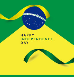 Happy brazil independence day template design vector