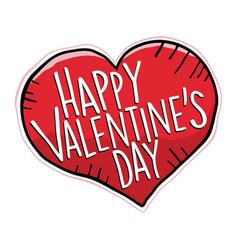 Happy valentines day heart vector