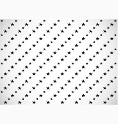 Horizontal card pattern with black cartoon stars vector
