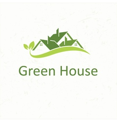 House roofs for real estate business Green House vector image