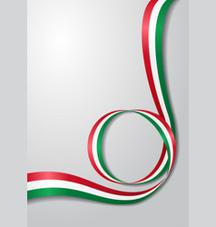 hungarian flag wavy background vector image