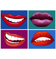 icons in pop art style vector image