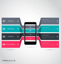 infographic design with smartphone template vector image vector image