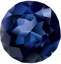 isolated beautiful faceted sapphire vector image