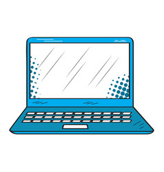 isolated retro laptop icon vector image