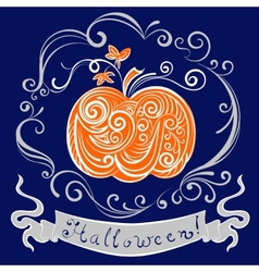 Lace pumpkin for hallowmas vector
