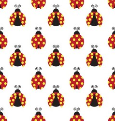 ladybugs pattern vector image