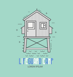lifeguard camp logotype vector image