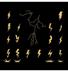 Lightning Bolt Set vector image