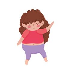 Little chubby girl character vector