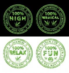 Marijuana stamps vector