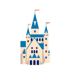 Medieval castle flat cartoon vector
