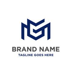 mg initial logo design vector image