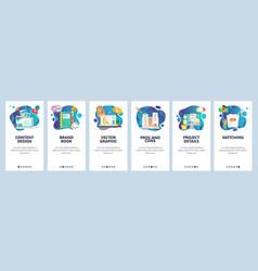 mobile app onboarding screens art design and vector image