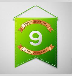 Nine years anniversary celebration design vector