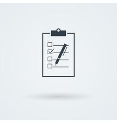 Paper board icon vector