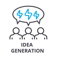 people idea generation thin line icon sign vector image